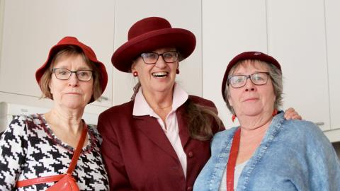 Tantpatrullens Eva Gustafsson-Sonnevi, Gertie Lux och Marianne Eriksson. Bild: Clara Lee Lundberg