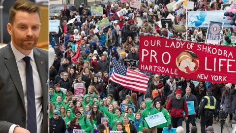Jag tror att det globala abortmotståndet känner sig stärkt av att ha en allierad i Vita Huset, säger Hans Linde. (Obs: Bilder från andra tillfällen). Foto: TT