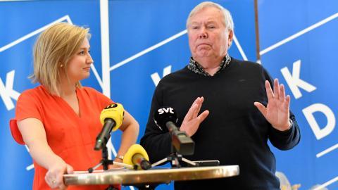I valrörelsen 2018 tog Ebba Busch Thor hjälp av Bert Karlsson.  Bild: Björn Larsson Rosvall/TT