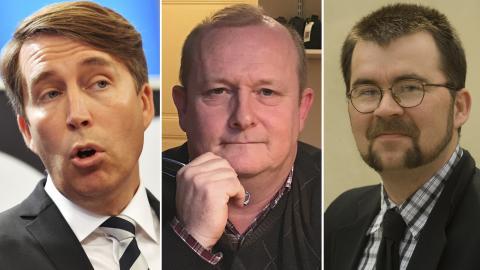 Richard Jomshof / Dick Erixon / Joakim Larsson. Bilder: Jonas Ekströmer/Leif R Jansson/TT / Samtiden