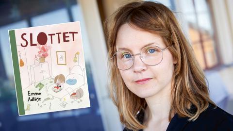 Augustprisvinnaren Emma Adbåge är aktuell med nya boken Slottet. Bild: Fredrik Persson/TT