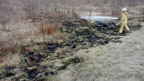 På tisdagskvällen startade en skogsbrand i närheten av Eskilsby i Härryda kommun. Branden är nu under kontroll. Foto: Räddningstjänsten Storgöteborg