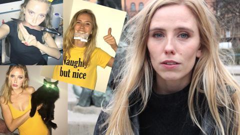 Nanna Olasdotter Hallberg började jobba med karaktären redan under sin utbildning på Stockholms Dramatiska Högskola. Bild: Kristin Mcmillen, Faksimil: Punani_99