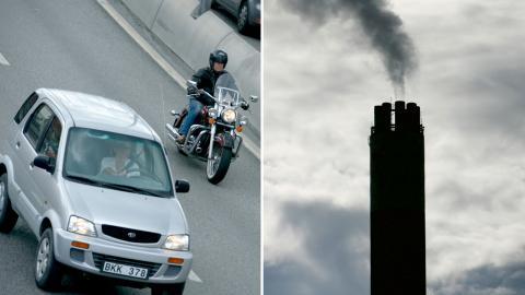 Forskare från Göteborgs universitet har jämfört attityder kring koldioxidskatt i fyra länder. Det visar sig att majoriteten föredrog beskattning direkt på producenterna av fossila bränslen istället för konsumenterna. Bild: Fredrik Sandberg / TT och Janerik Henriksson / TT