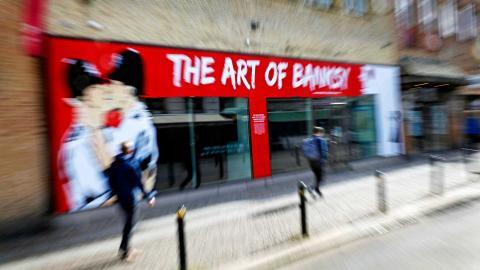 I helgen öppnar utställningen Art of Banksy i Göteborg. Konstnären själv har dock inte gett sitt medgivande. Foto: Christian Egefur