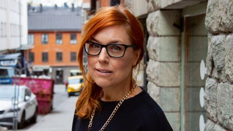 Nina Färdig driver skobutiken Green Laces i Stockholm. Bild: Hedda Themner