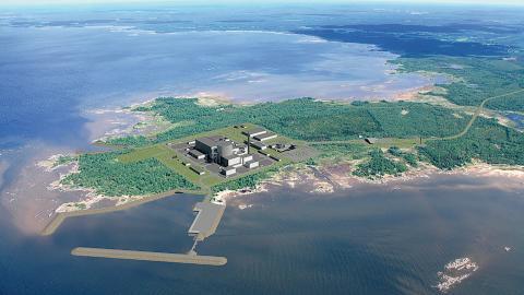 I finska Pyhäjoki planerar Fennovoima att bygga kärnkraftsanläggningen Hanhikivi 1. Bild: Fennovoima