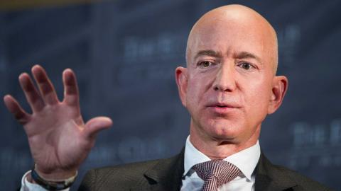 Jeff Bezos. Foto: Ciff Owen/TT/AP