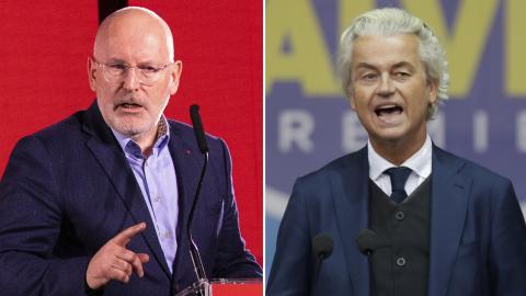 Frans Timmermans / Geert Wilders. Bild: Balazs Mohai/Luca Bruno/AP/TT
