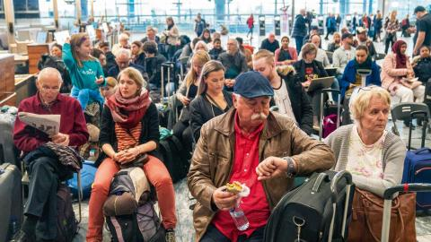 Tidigare i år berördes totalt 370 000 resenärer när SAS-piloter i hela Norden strejkade i sju dagar.  Foto: Ole Berg-Rusten/TT