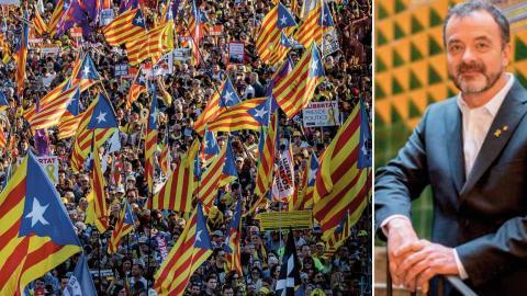 """""""Förra månaden stängde Spaniens parlament och senat av fem valda företrädare, alla tidigare medlemmar av den katalanska regeringen och för närvarande föremål för rättegång, från sina funktioner som parlamentsledamöter"""", skriver Alfred Bosch. På bilden syn Foto: Bernat Amargue/TT/AP"""