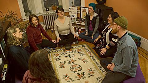 Brooklyn Center for Sacred Activism i New York är en samlingsplats för aktivism och andlig verksamhet utanför den organiserade religionen.  Bild: Jonas Cullberg