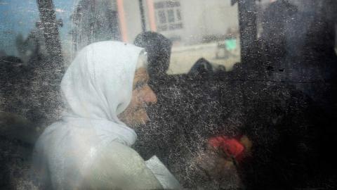 En yazidisk kvinna som 2015 släppts fri från IS-fångenskap. Foto: Bram Janssen/AP/TT