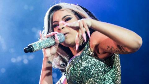 Cardi B spelar på Roskildefestivalen tidigare i år. Foto: Helle Arensbak