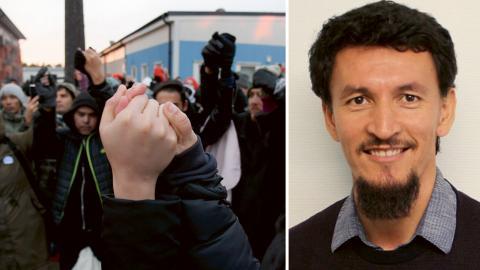 """""""Oavsett om situationen beror på att föräldrarna saknar asylskäl eller den strama flyktingpolitiken så drabbas barnen"""" skriver Juma lomani Bild: Anders Wiklund/TT / Privat"""