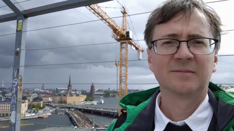 Sociologen Károly Takács lämnade Ungern av politiska skäl i maj i år, för att istället arbeta i Sverige.  Bild: Privat