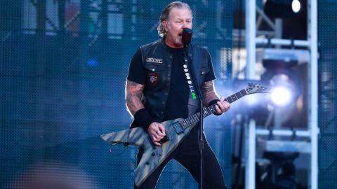 Metallicas sångare James Hetfield. Foto: Jonas Lindstedt/TT