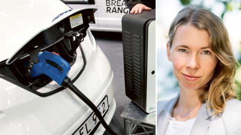 Johanna Barr, sakkunnig på elkraftbranschens intresseorganisation Power Circle. Bild: Thomas Johansson/TT / Press