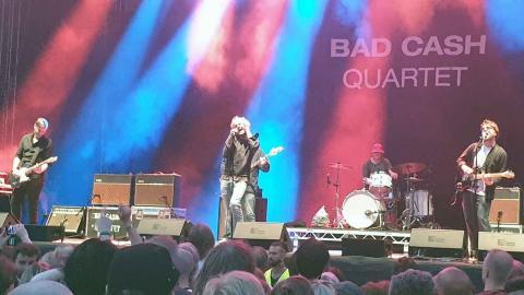 Bad Cash Quartet på återföreningsspelningen på Gården. Foto: Christian Egefur