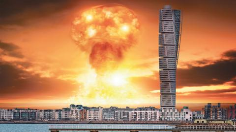 """""""En kärnvapenattack skulle därför innebära akut matbrist men också långvariga ekonomiska effekter för regionen"""", skriver debattörerna. Bild: Shutterstock (Montage)"""