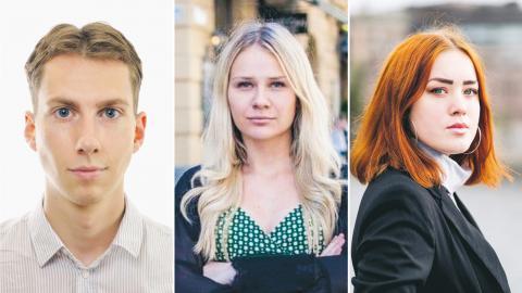 Nick Doggen, Hedda Berkesand och Wanja Kaufmann.