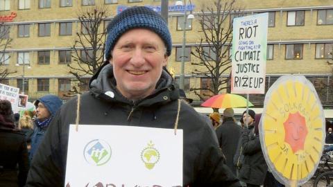 Ulf Jarnefjord är utredare på LO och tror att facket skulle vinna på att demonstrera för klimatet.  Bild: Privat