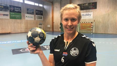 Nu vill Elin Hallagård spela handboll för att det är kul ett sista år i ligan. Bild: Kajsa Sandin