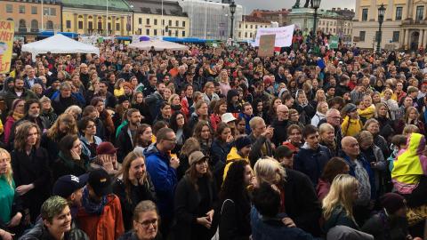 Enligt polisen deltog över 10 000 personer i fredagens klimatdemonstration i Göteborg. Bild: Kent Vilhelmsson