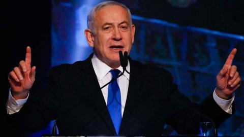 Benjamin Netanyahu. Foto: Ariel Schalit/AP/TT