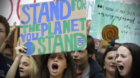 Klimatprotest i London tidigare i år. Bild: Kirsty Wigglesworth/AP/TT