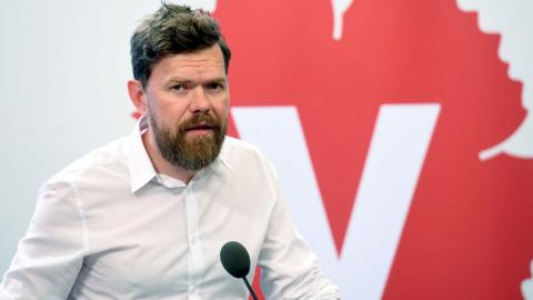 Vänsterpartiets partisekreterare Aron Etzler.  Foto: TT
