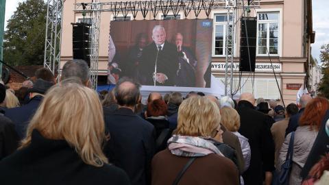 PiS ordförande Jaroslaw Kaczynski har länge hävdat att historien är felaktigt skriven, och att revolutionen 1989 kidnappades av vänsterliberaler. Bild: Joakim Medin