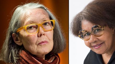 Poeten Anne Carson och romanaktuella Jamaica Kincaid ligger bra till hos Dagens ETC:s panel. Foto: TT