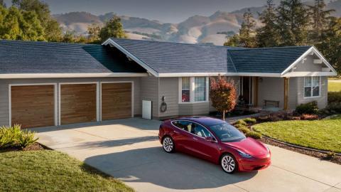 Så här kan det se ut med Teslas integrerade solceller. Bild: Tesla