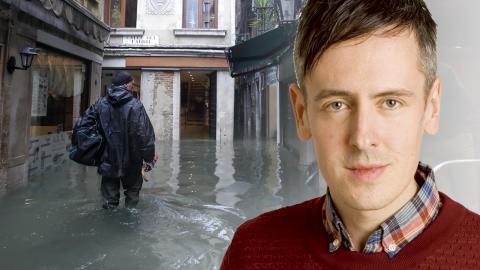 Översvämningar i Venedig. Bild: Luca Bruno/AP/TT / Dagens ETC