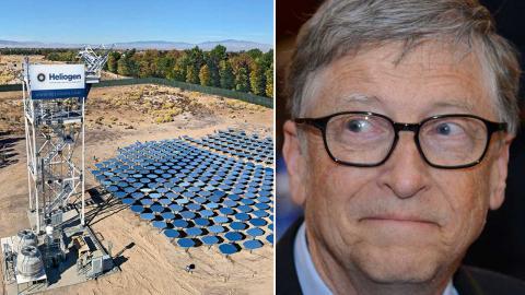 Bill Gates investerar i en slags solugn som ska kunna användas i tung industri. Foto: Pressbild, Heliogen/TT