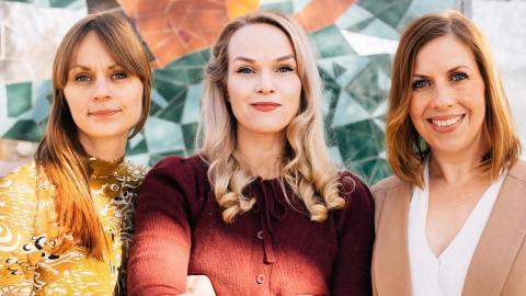 Johanna Nilsson, Maria Soxbo och Emma Sundh startade hösten 2018 Klimatklubben, i sociala medier. Bild: Linnéa Jonasson Bernholm, Appendix Fotografi