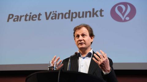 Carl Schlyter är talesperson för Partiet Vändpunkt.  Bild: Jonas Ekströmer/TT