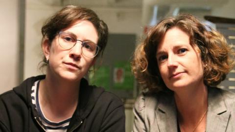 Till vänster projektledaren Linnea Isberg och till höger Lina Brustad, kanslichef för Anhörigas Riksförbund.  Bild: Sao-Mai Dau