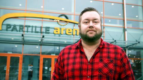 Daniel Claeson, arena- och evenemangschef på Partille Arena, är med för fjärde gången och arrangerar P3 Guld på Partille Arena.  Bild: Caroline Axelsson