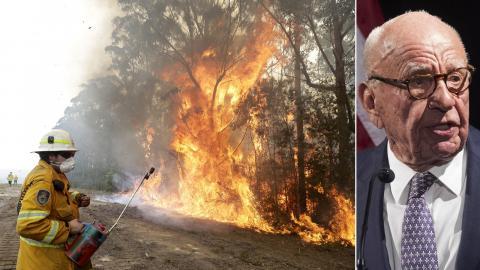 Bränder i Australien / Rupert Murdoch. Bild: Rick Rycroft/Mary Altaffer/AP/TT