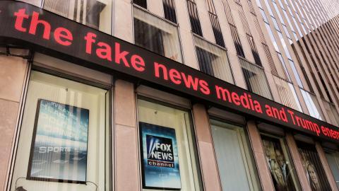 Fox News kontor i New York.  Bild: Richard Drew/AP