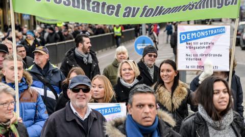 I folkomröstningen röstade 57 procent nej till trängselskatt. Bild: Karin Olander/TT
