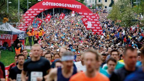 Göteborgsvarvet är världen största halvmaraton. Bild: TT