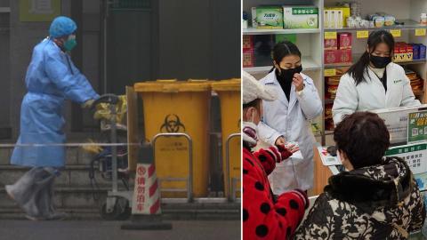 Bilder från Wuhan, Kina på onsdagen. Bild: Dake Kang/AP/TT