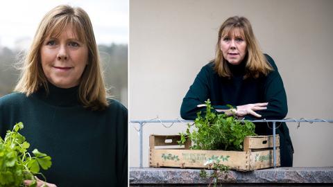 """""""Det är bra att välja växter som har ett begränsat rotsystem"""", säger Bella Linde. Bild: Zanna Nordqvist"""