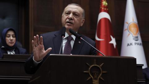 Recep Tayyip Erdogan.  Bild: TT/AP