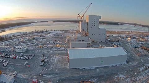 Pilotanläggning byggs i Luleå.  Bild. SSAB