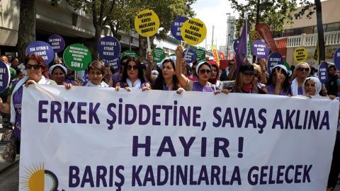 TJA och andra kvinnoorganisationer i Turkiet har redan i åratal protesterat mot Erdogans och regeringens attacker mot kvinnors rättigheter.  Bild: Tja