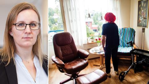Elisabeth Antfolk, Kommunal, menar att många hemtjänstföretag lider av brist på information. Bild: Kommunal / Gorm Kallestad/NTB Scanpix/TT